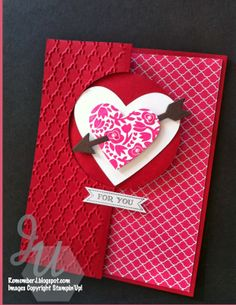 StampinUp! ValentinesMaking cute cards with the Circle card Thinlits from StampinUp! and Flowerfull stan set.