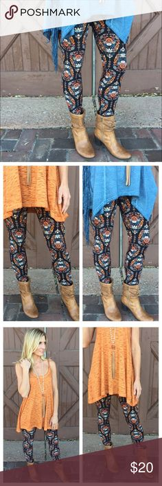Leggings ❤️Only 3 Left❤️ Spring Paisley Leggings Leggings- Spring Paisley Print Leggings ❤️ Super soft brushed knot leggings. 92% Polyester, 8% Spandex. One Size. Hand wash cold, do not bleach, hang dry. Made in China. Infinity Raine Pants Leggings