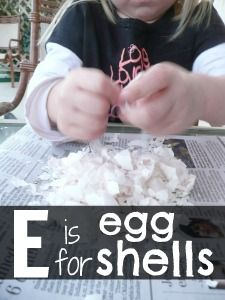E is for Egg: have kids crush clean and dry eggs shells and glue onto letter E Preschool Boards, Preschool Letters, Learning Letters, Preschool Lessons, Preschool Activities, Kids Learning, Alphabet Letters, Letter E Activities, Writing Activities