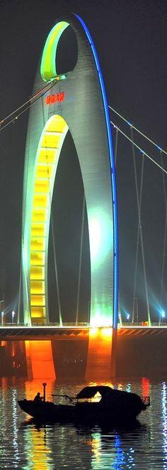 Liede Bridge Reflection - Guangzhou, China