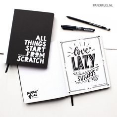Love lazy sundays and these new notebooks!! Perfect for sketching all your goofy ideas and for making your bullet journal! #lettering   #handlettering #drawing #sketch #sketchbook #notebook  #paperfuel