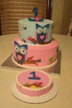 Polymer Clay OwlBabys First Birthday Owl Cake TopperKeepsake