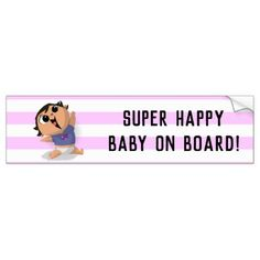 Baby on Board - Airplane Baby (Asian Girl) Bumper Sticker Baby Bumper, Car Bumper Stickers, Newborn Baby Gifts, Super Happy, Happy Baby, Business Supplies, Baby Accessories, Airplane, Gifts For Kids