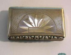 Fine Antique Austrian Silver Tobacco Snuff Box Vienna 1838