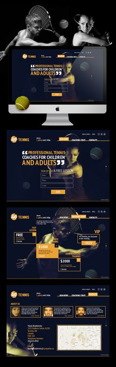 Go Tennis by Max Shevchenko, via Behance #webdesign #web #design #ui #ux