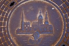 <strong>Riga, Latvia</strong><br>This cover was cast in 2001 to celebrate the city's 800th anniversary