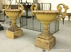 I got totally carried away bidding on these antique garden urns… Now that I have discovered auctions, it looks like I am going to bankrupt us!