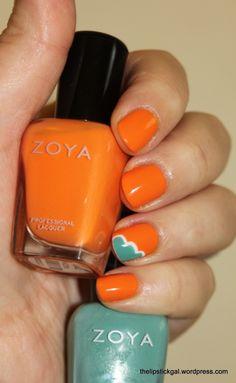Zoya Nail Polish in Arizona with Zoya Wednesday accent!