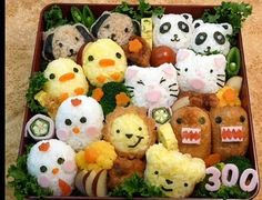 Rice has never looked so good! Sushi and musubi rice balls in adorable shapes make lunch fun.
