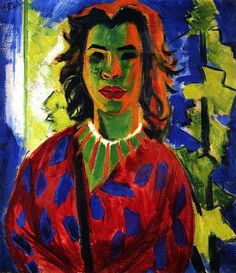 PAINTING OF A WOMAN by Max Pechstein