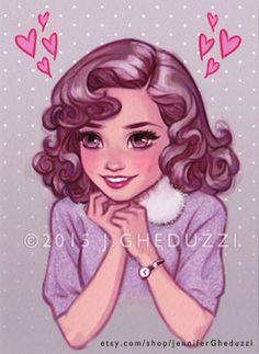 """""""Lorraine Love"""" - Original art by Jennifer Gheduzzi"""