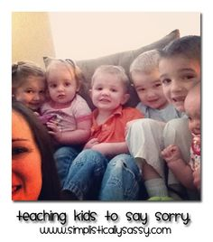 Teaching kids to say sorry