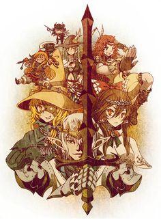 Week 14- Final Fantasy XIV - Fan Art Wed -Touhou Fantasy XIV by ~vinhnyu on deviantART