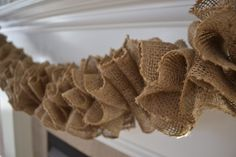 Burlap Garland, I can do this! Add Christmas Ornaments for a festive touch.