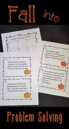 Your students will love this problem solving scavenger hunt! Get them out of their seats and having fun while working on addition, subtraction, multiplication and division word problems. Fun Math Games, Math Activities, Fourth Grade Math, Teaching Math, Teaching Tips, Math Workshop, Guided Math, Word Problems, Elementary Math