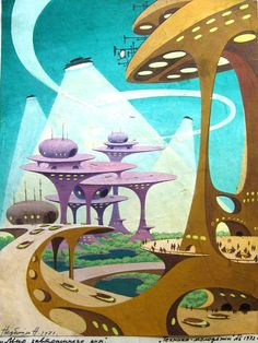 Nikolay Nedbailo Николай Недбайло 1970s #illustration #vintage #scifi