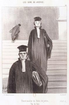 Honoré Daumier Grand escalier du Palais de justice. Vue de face Planche n° 36 de la série Les Gens de justice. 1848. Lithographie, 2e état sur 3BnF - Daumier