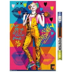 Dc Comics Movie - Birds of Prey - Harley Quinn - Hammer Poster and Poster Clip Bundle Size: 22.375 inch x 34 inch