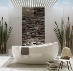 Baignoire à poser aveo - villeroy & boch Bathroom Design Luxury, Bathroom Interior, Home Planner, Master Bath Remodel, Bathroom Goals, Home Decor Paintings, Bathroom Inspiration, House, Bathtub