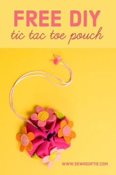 DIY tic tac toe pouch