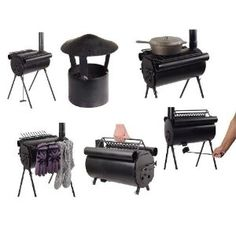 Portable Military Camping Tent Steel Wood Stove Heater Army Cook Hunting Fishing Cot
