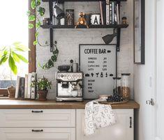 Cozy kitchen corner in nordic style
