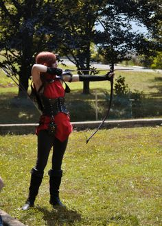 Renaissance faire archer.  Been dying to go to one but don't know ANYONE as dorky as I am that would go with me.....AND my favorite part of summercamp????....archery. I swear, I lived in the wrong time. I was a peasant during the Renaissance and a princess during the Victorian Period.