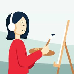 When I have some inpiration (and free time!) #illustration #vector #hobby #painting #me #listen #passion #art