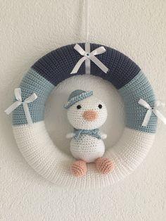 39 Beste Afbeeldingen Van Gehaakte Kransen Crochet Wreath Holiday