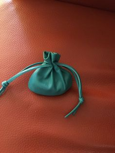 Leather Pouch Bag, Small Bag, Drawstring Pouch, Sage Pouch, Medicine Bag, Healing Stones, Aqua Leather, Coin Pouch, Small Bag Mens Pouch, Mens Leather Necklace, Leather Pouch, Lambskin Leather, Bag Display, Medicine Bag, Sack Bag, Coin Bag, Drawstring Pouch