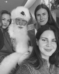 Lana Del Rey with Chuck Grant, Emma Elizabeth Tillman and Santa Claus #LDR