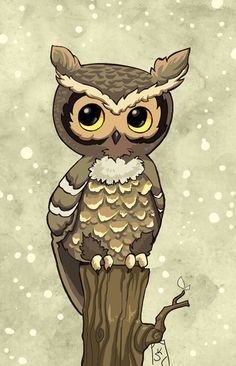 'Chibi Owl' by Fragile Whispers
