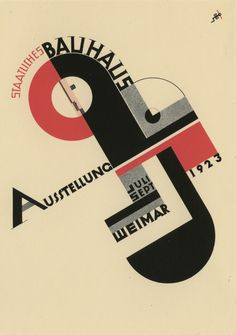 Postcard from the Bauhaus Museum, Berlin. Poster for 1923 exhibition by Joost Schmidt.