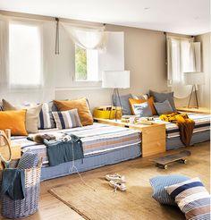 Blog Achados de Decoração, sofás feitos com colchões