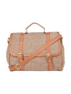 School/College Bag Girls Tweed Satchel