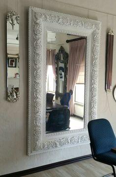 REGALesque white wood mirror