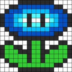 Mario Ice Flower Perler Bead Pattern / Bead Sprite