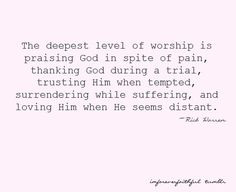 The deepest level of worship