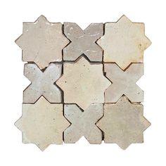 Zellige Star Cross White 12cm x 12cm - Cement Tile USA Fresh Meadows, Best Bathroom Designs, Vibrant Colors, Colours, Clay Tiles, Amazing Bathrooms, Cement, Stars, Handmade