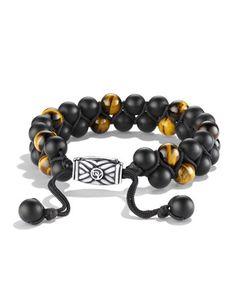 Spiritual Beads Bracelet with Black Onyx and Tiger\'s Eye by David Yurman at Neiman Marcus.