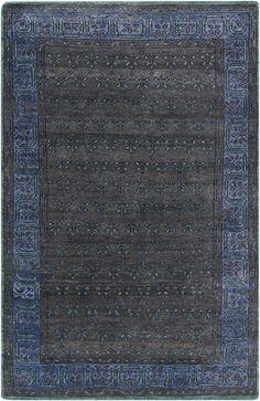 Surya HVN1223 Haven Black, Blue Rectangle Area Rug