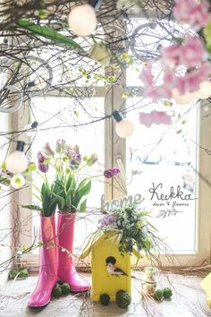 Spring decor. Spring Photo bouth