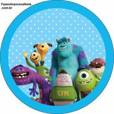 Monster University: Free Printable Labels and Toppers.