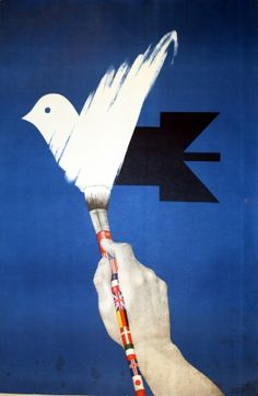 Peace to the World, 1983 - original poster by M Balbat listed on AntikBar.co.uk