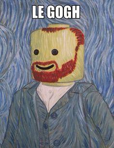 LeGogh Lego Van Gogh- art humor with Legos! Lego Van, Haha Funny, Funny Memes, Funny Stuff, Funny Drunk, Hilarious Jokes, Hilarious Animals, Odd Stuff, 9gag Funny