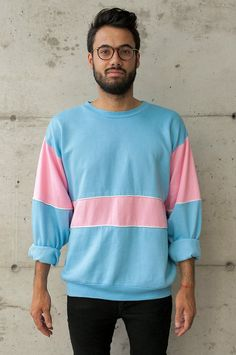 Bubblegum Men Sweater / Oversized Pastel by LesOubliettes on Etsy, $23.00 /// www.art-by-ken.com