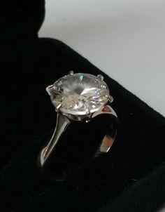 Ring 925er Silber mit klarem Kristallstein Größe von Schmuckbaron