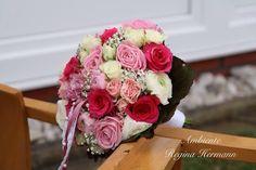 Brautstrauß in verschiedenen rosa pink Töne