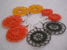 Second Batch...free crochet earrings patterns...make the motifs and design the jewlery!