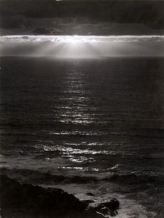 Ansel Adams, Pacific Ocean, Sundown, ca. 1953